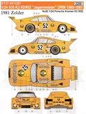 DECALS 1//43 PORSCHE 911 PERRIER RALLY MONTECARLO 1982