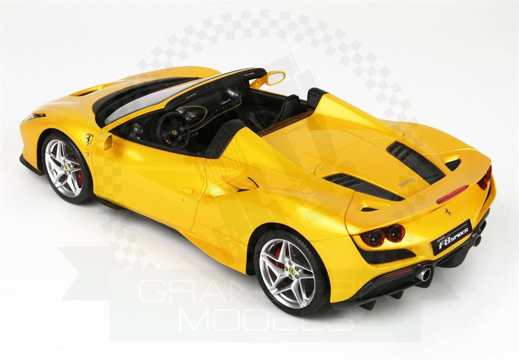 Ferrari F8 Tributo Spider 2019 Yellow 1:18 by BBR Concept43