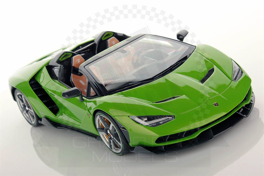 lambo centenario roadster 16 green 1 18 by mr collection. Black Bedroom Furniture Sets. Home Design Ideas