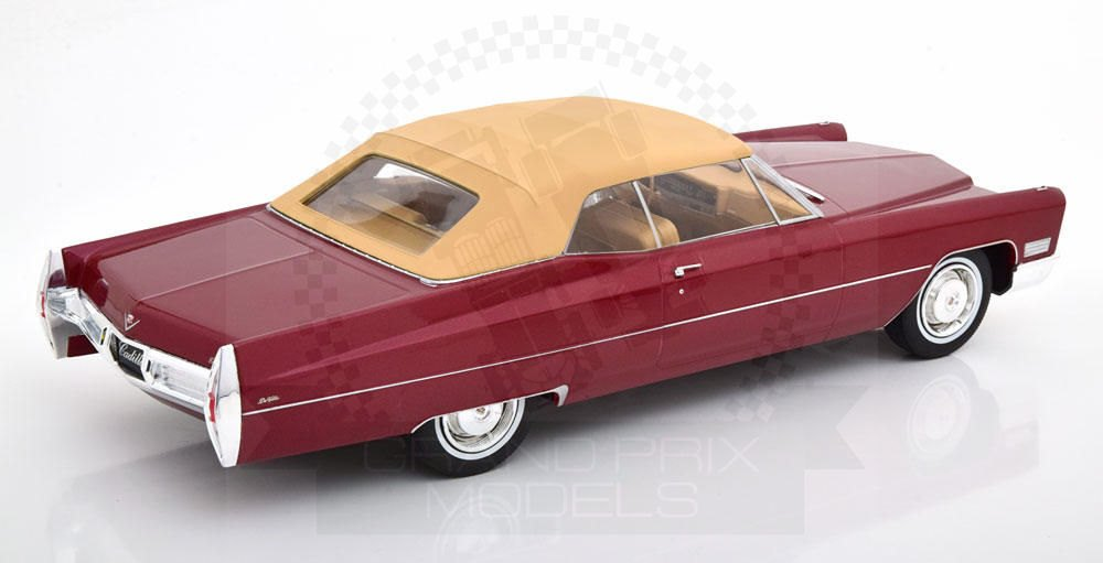 1:18 KK-Scale Cadillac DeVille Convertible 1967 red
